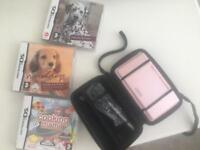 Pink NINTENDO DS with 3 games included