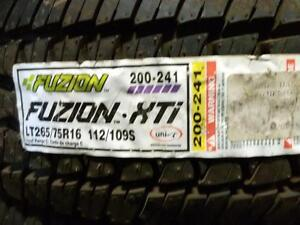 BRAND NEW PAIR ofLT265/75R16 FUSION for sale