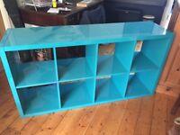 Ikea Kallax Storage Unit 2 x 4 in High Gloss Turquoise