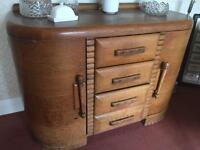 Deco vintage oak sideboard