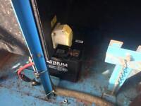 Box Trailer with 110v diesel Perkins generator