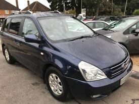 2007/07 KIA SEDONA 2.9CRDi LS 5DR BLUE,7 SEATER,LOW MILEAGE,EXCELLENT CONDITION,READY TO DRIVE AWAY