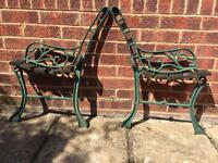 Cast iron Garden bench ends or chair ends