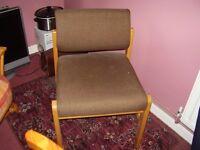 Easy Chair upholstered in brown tweed (As New)