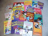 Various Horrid Henry books