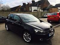 For sale vw golf 2.0 gt tdi (60)reg black 4 door manual 6speed diesel