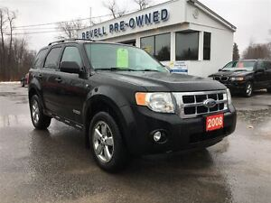 2008 Ford Escape XLT 3.0L V6, Heated Leather, Power Seat, Conven
