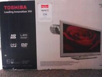 Toshiba 26 inch TV / DVD Combi Slimline Black, HD Ready NEW, NEVER USED