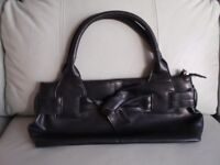 Black Handbag with Knot detail