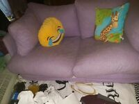 Double sofa bed light purple good condition