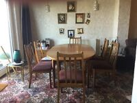 G Plan dining room suite with 6 chairs