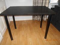 black ikea desk good condition