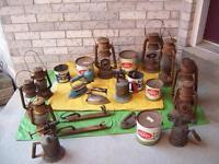 Antique Rustic Lanterns and TORCHES, Honey Tins + MORE