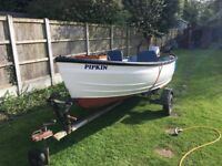 14 foot WIFF open fishing boat recently repainted, in excellent condition.
