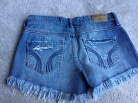 Womens Hollister denim shorts size 1, waist 25.