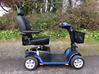 Pride Colt Sport 8 Mph Mobility Scooter in Viper blue. As-new condition