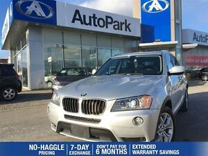 2013 BMW X3 28i/LEATHER/SUNROOF/CRUISE/KEYLESS