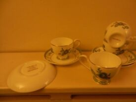 Villeroy & Boch coffee cups & saucers, Columbia design