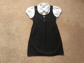 NEXT BLACK SCHOOL DRESS WITH ATTACHED BLOUSE, AGE 5