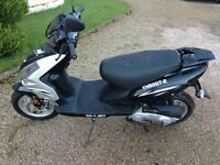 Kymco yh50 50cc rev and go sporty looking scooter 2008