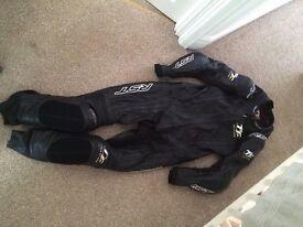 RST IOM TT Motorbike Leathers UK42 Black