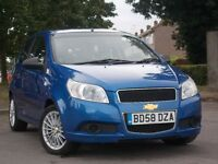 CHEVROLET AVEO S 1.2, 58 REG, LOW MILEAGE 65000 ONLY, FULL SERVICE HISTORY, VALID M.O.T TILL END 17