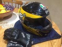 Mortorbike helmet for sale with gloves