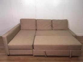 Beautiful Beige corner sofa bed with free delivery within 10 miles