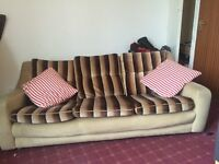 Free 3 Seater Striped Sofa up for Grabs