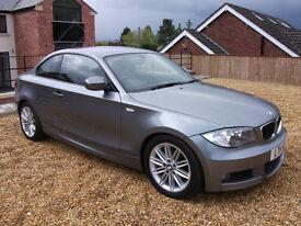 BMW 1 Series Diesel, M-Sport Coupe, 2.0 118d M Sport 2dr, 143 BHP, 2011 11 Plate.