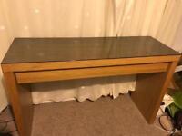 MALM Oak Veneer Dressing Table