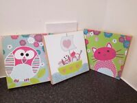 Kids room 3 canvases