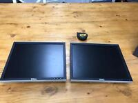 "17"" Dell monitors in perfect working order"