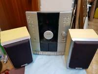 CD player & double tape player with speakers JMB
