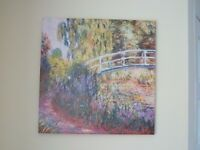 The Japanese Bridge, Pond with Water Lilies Canvas - Excellent Condition