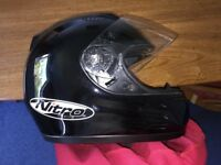 NITRO N610-V FULL FACE FIBREGLASS CRASH HELMET SIZE 58 (M). GOOD CONDITION.