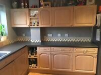 Kitchen units, sink, taps, worktops,dishwasher
