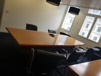 Barrel shaped solid wood boardroom/conference/office/meeting table