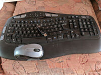 Logitech Cordless Desktop Wave - Keyboard and Mouse (wireless)