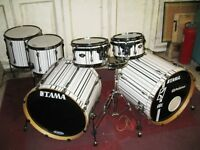 Tama Superstar Hyperdrive Custom Wrapped Drum Kit Shell Pack With Bags