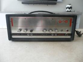 WEM PA100. Classic 60's head. Great Fender-like clean tones
