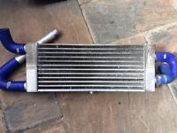 Dual pass front mount intercooler / twin turbo