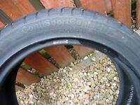 1 tyre for sale Continental contact 3 ex Mercedes spare with 6mm tread 235x50x18