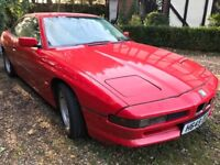BMW 850 I 4988cc Petrol Automatic 2 door Coupe H Reg 04/04/1991 Red