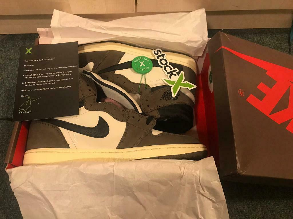 Nike Air Jordan 1 Retro High Mocha Travis Scott Cactus Jack Stock