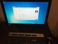DESKTOP COMPUTER WITH 22 INCH MONITOR