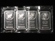 1 Troy oz .999 Silver Bars