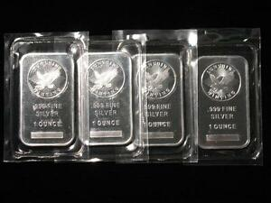 SUNSHINE MINTING ONE TROY OUNCE 999 SILVER BAR - 1 oz INGOT w/ MINT MARK SI