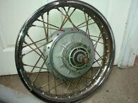 Ducati 860 rear wheel with brake plate
