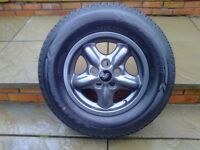 ALLOYS X 5 OF 16 INCH GENUINE DISCOVERY/2 FULLY POWDERCOATED IN STUNNING ANTHRACITE WITH NEW TYRES